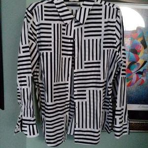 Chico's black & white  blouse 3 size XL